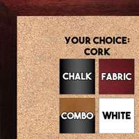 BB1543-7 Mahogany  - 3/4 Inch Wide X 3/4 Inch High - Small Custom Cork Chalk Dry Erase
