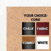BB1543-8 White - 3/4 Inch Wide X 3/4 Inch High - Small Custom Cork Chalk Dry Erase