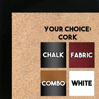 BB1543-9 Black - 3/4 Inch Wide X 3/4 Inch High - Small Custom Cork Chalk Dry Erase