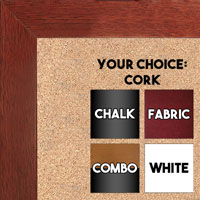 BB1844-3 Cherry Large Wall Board Cork Chalk Dry Erase