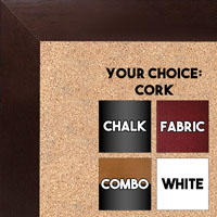 BB1844-5 Dark Walnut Large Wall Board Cork Chalk Dry Erase
