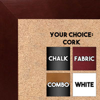 BB1844-7 Dark Mahogany Large Wall Board Cork Chalk Dry Erase