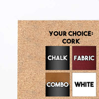 BB1844-8 White Large Wall Board Cork Chalk Dry Erase