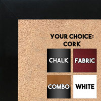 BB1844-9 Black Large Wall Board Cork Chalk Dry Erase