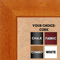 "BB1845-2 Classic Honey Maple 1 3/4"" Wide Value Price Medium To Extra Large Custom Cork Chalk Or Dry Erase Board"