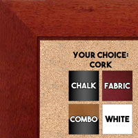 "BB1845-3 Rich Cherry 1 3/4"" Wide Value Price Medium To Extra Large Custom Cork Chalk Or Dry Erase Board"