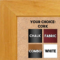 "BB1845-4 Natural Clear 1 3/4"" Wide Value Price Medium To Extra Large Custom Cork Chalk Or Dry Erase Board"
