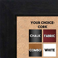 "BB1845-6 Charcoal Gray 1 3/4"" Wide Value Price Medium To Extra Large Custom Cork Chalk Or Dry Erase Board"