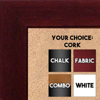 "BB1845-7 Dark Mahogany 1 3/4"" Wide Value Price Medium To Extra Large Custom Cork Chalk Or Dry Erase Board"