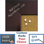 BB1846-3 | Bronze | Custom Cork Bulletin Board | Custom White Dry Erase Board | Custom Chalk Board