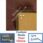 BB1848-1 | Bronze with Antique Beading | Custom Cork Bulletin Board | Custom White Dry Erase Board | Custom Chalk Board