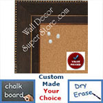 "BB1863-1 Distressed Dark Bronze 2 1/2"" Value Priced Medium To Extra Large Custom Cork Chalk Or Dry Erase Board"