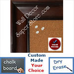 "BB1864-1 Walnut 2 7/8"" Wide Value Priced Medium To Extra Large Custom Cork Chalk Or Dry Erase Board"
