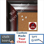Custom Dark Wood Finish  - Cork, Chalk, Dry Erase Boards
