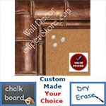 "BB1867-1 Bronze Tropical Bamboo 2 7/8"" Value Priced Medium To Extra Large Custom Cork Chalk Or Dry Erase Board"