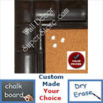 "BB1867-3 Espresso Coffee Brown Tropical Bamboo 2 7/8"" Value Priced Medium To Extra Large Custom Cork Chalk Or Dry Erase Board"