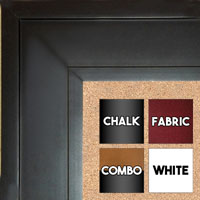 "BB1868-1 Matte Satin Black 2 3/4"" Wide Value Priced Medium To Extra Large Custom Cork Chalk Or Dry Erase Board"