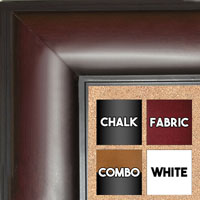 "BB1869-1 Cherry Mahogany 3"" Wide Value Priced Medium To Extra Large Custom Cork Chalk Or Dry Erase Board"