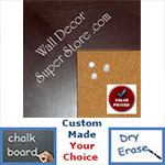 "BB1872-1 Distressed Bordeaux Mahogany 3 3/16""Value Priced Medium To Extra Large Custom Cork Chalk Or Dry Erase Board"