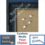 BB204-1 Dark Plum Black With Beads Medium To Extra Large Custom Cork Chalk Or Dry Erase Board