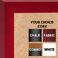 BB213-1 Satin Black With Distressed Silver Accent Small To Medium Custom Cork Chalk or Dry Erase Board