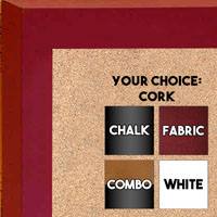 BB213-2 Satin Black With Distressed Gold Accent  Small To Medium Custom Cork Chalk or Dry Erase Board