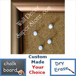 BB220-1 Frosted Copper Bronze Aluminum Small To Medium Custom Cork Chalk or Dry Erase Board
