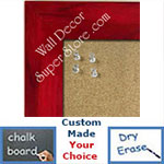 BB231-4 Red With Soft Dark Highlights Medium To Extra Large Custom Cork Chalk Or Dry Erase Board