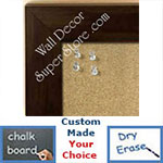 BB231-6 Olive Black Medium To Extra Large Custom Cork Chalk Or Dry Erase Board