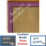 BB234-4 Lavender Purple With Bevel Small Custom Cork Chalk or Dry Erase Board