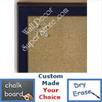 BB235-10 Dark Navy Blue Small Custom Cork Chalk or Dry Erase Board