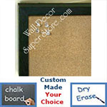 BB235-12 Spruce Green Small Custom Cork Chalk or Dry Erase Board