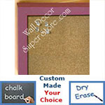 BB235-14 Violet Purple Small Custom Cork Chalk or Dry Erase Board