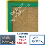 BB235-1 Aqua Green Small Custom Cork Chalk or Dry Erase Board