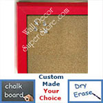 BB235-2 Red Small Custom Cork Chalk or Dry Erase Board