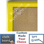 BB235-3 Yellow Small Custom Cork Chalk or Dry Erase Board