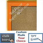 BB235-9 Orange Small Custom Cork Chalk or Dry Erase Board