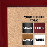 BB311-3 High Gloss Red Lacquer Small Custom Cork Chalk or Dry Erase Board