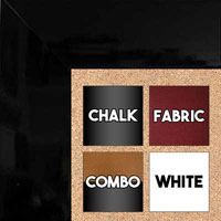 BB321-1 High Gloss Black Lacquer Medium To Extra Large Custom Cork Chalk Or Dry Erase Board