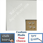 BB332-2 High Gloss White Lacquer Medium To Extra Large Custom Cork Chalk Or Dry Erase Board
