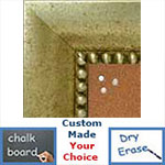 BB5203-4 Distressed Silver Medium To Extra Large Custom Cork Chalk Or Dry Erase Board