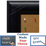 BB5231-3 Matte Black Custom Cork Chalk or Dry Erase Board Medium To Extra Large