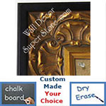 BB5233-1 Ornate Gold Leaf With Black Trim Custom Cork Chalk or Dry Erase Board Medium To Extra Large