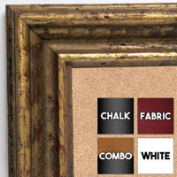 BB6229-3 Distressed Antique Gold Custom Cork Chalk or Dry Erase Board Medium To Extra Large