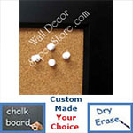 BB21-210 | Black | Custom Cork Bulletin Board | Custom White Dry Erase Board | Custom Chalk Board