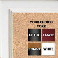 BB36-1 Cream Small Custom Cork Chalk or Dry Erase Board