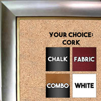 BB70-2 Silver With Gold Insert Small To Medium Custom Cork Chalk or Dry Erase Board