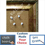 BB74-1 Distressed Gold Custom Cork Chalk or Dry Erase Board Medium To Extra Large