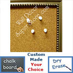 BB85-2 Antique Silver With Beads Small Custom Cork Chalk or Dry Erase Board