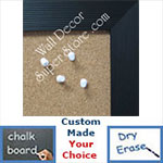 BB94-1 Black With Ribbed Look Custom Cork Chalk or Dry Erase Board Medium To Large